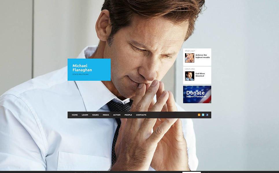 Luxusní Flash CMS šablona na téma Politický kandidát New Screenshots BIG