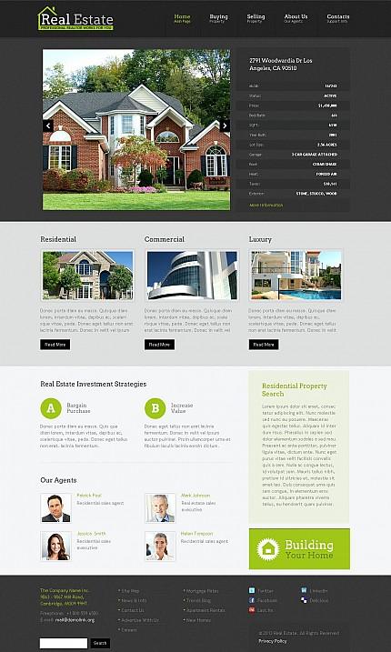 ADOBE Photoshop Template 47135 Home Page Screenshot
