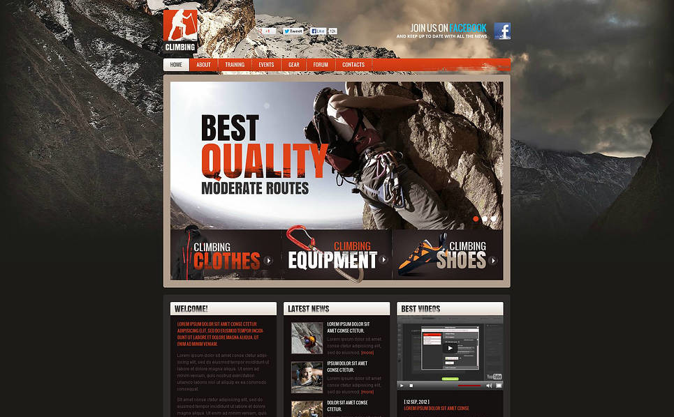 Flash CMS Vorlage für Klettern  New Screenshots BIG