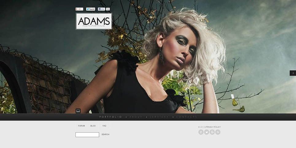 Prémium Fényképész portfóliók Flash CMS sablon New Screenshots BIG