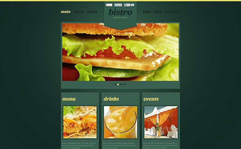 Premium Flash CMS Template over Café en Restaurant New Screenshots BIG