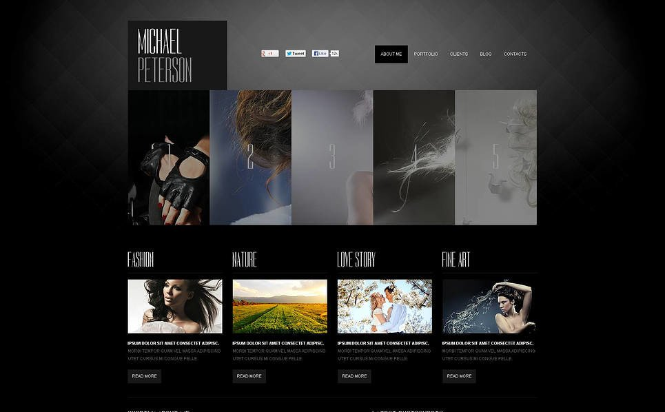 Luxusní Flash CMS šablona na téma Portfolio fotografa New Screenshots BIG