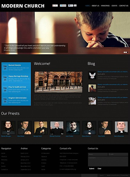 ADOBE Photoshop Template 47146 Home Page Screenshot