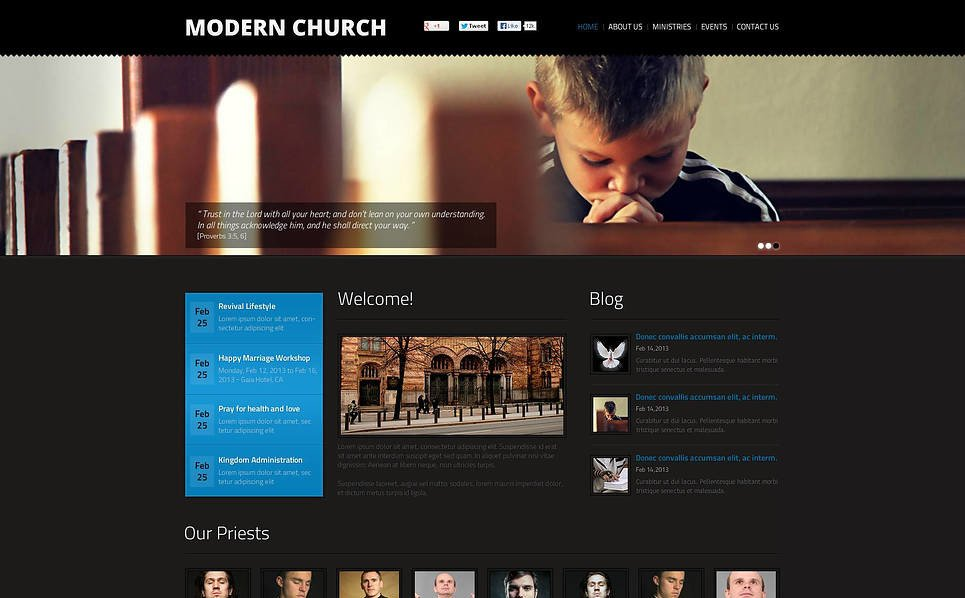 Premium Christian Templates Flash Cms Şablon New Screenshots BIG