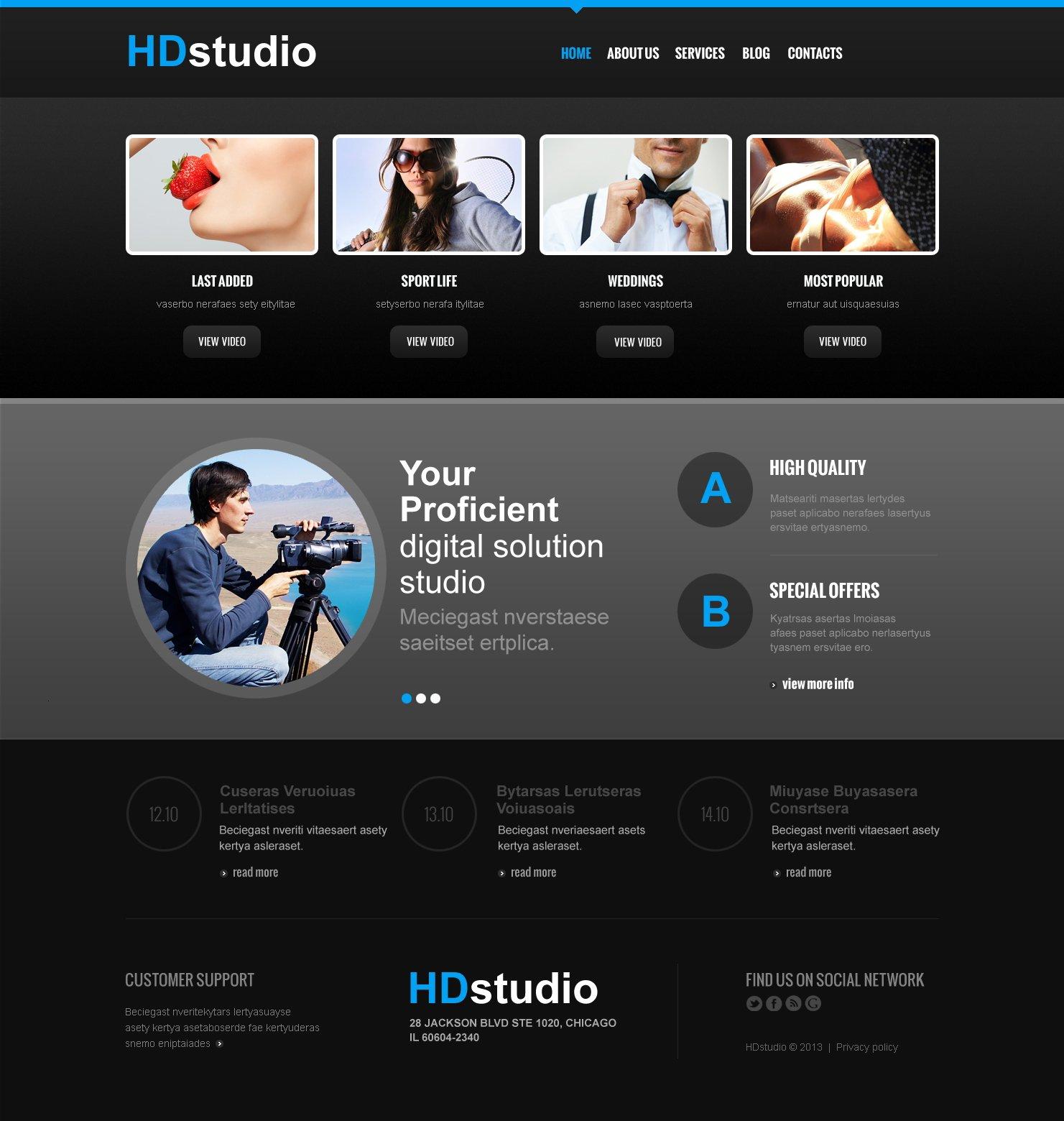 Best Hd Studio Videographer Joomla Design 47154 Sale Super Low Price Free Bonuses Instant Download