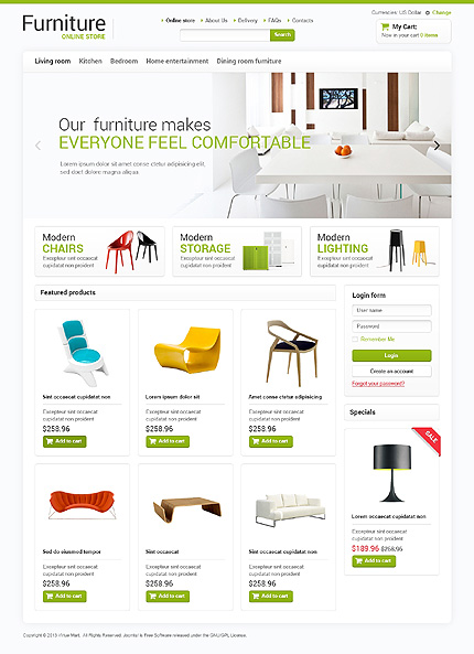 ADOBE Photoshop Template 47165 Home Page Screenshot