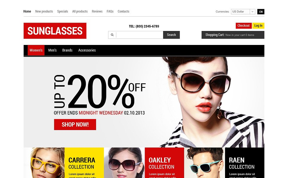ZenCart Vorlage für Brillen  New Screenshots BIG