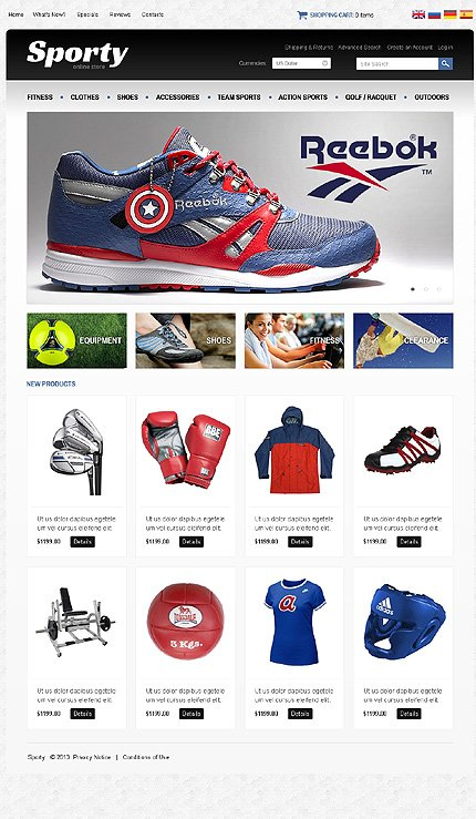 osCommerce Template 47170 Main Page Screenshot