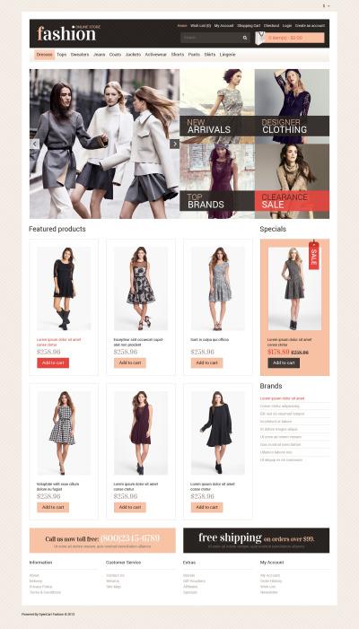 Modebutik Responsivt OpenCart-mall