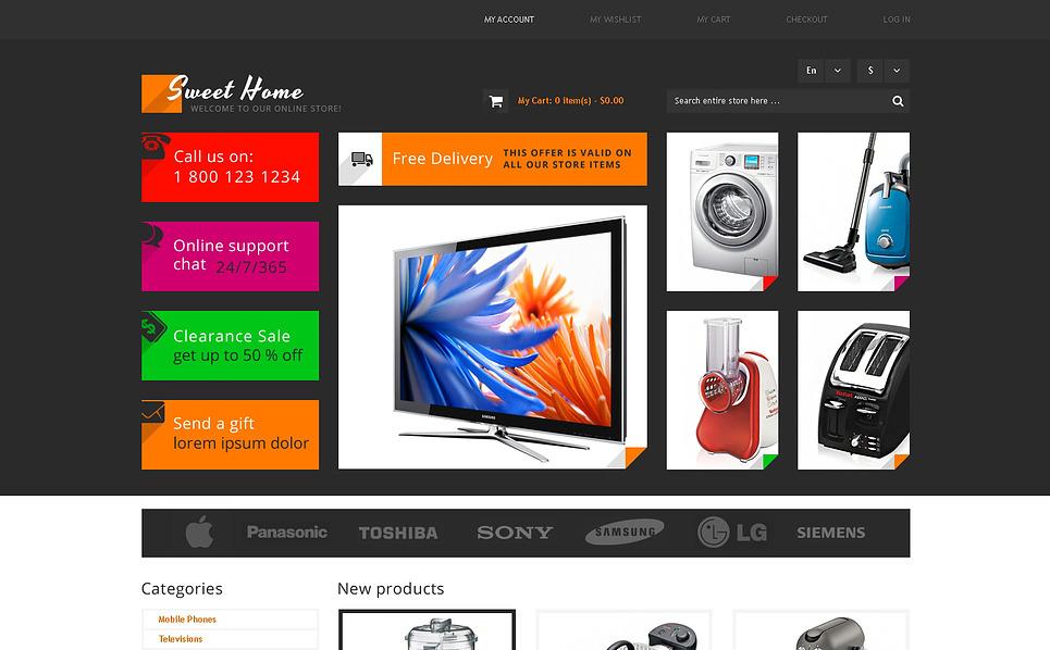 Reszponzív Elektronikai üzletek Magento sablon New Screenshots BIG