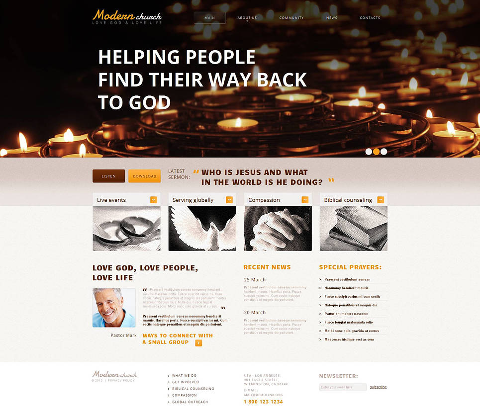 Church Web Template with jQuery Coin Slider - image