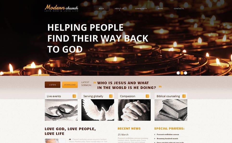 Luxusní Moto CMS HTML šablona na téma Náboženský New Screenshots BIG