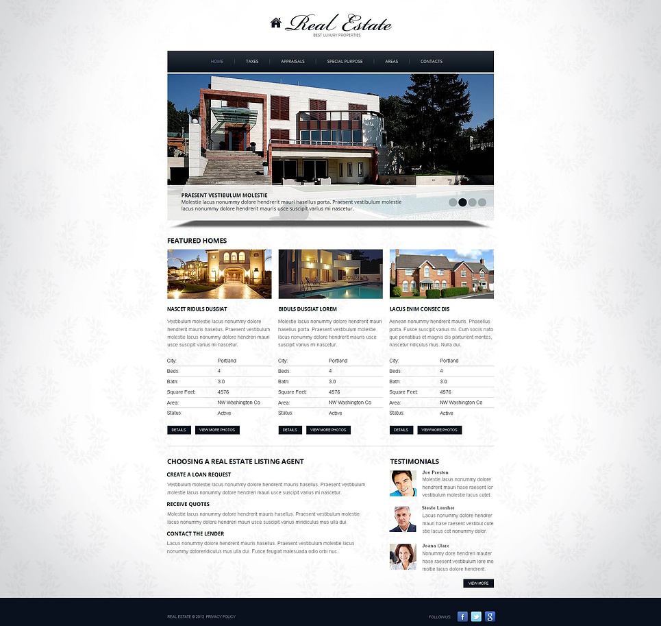 Simple Web Template for Real Estate Agents - image