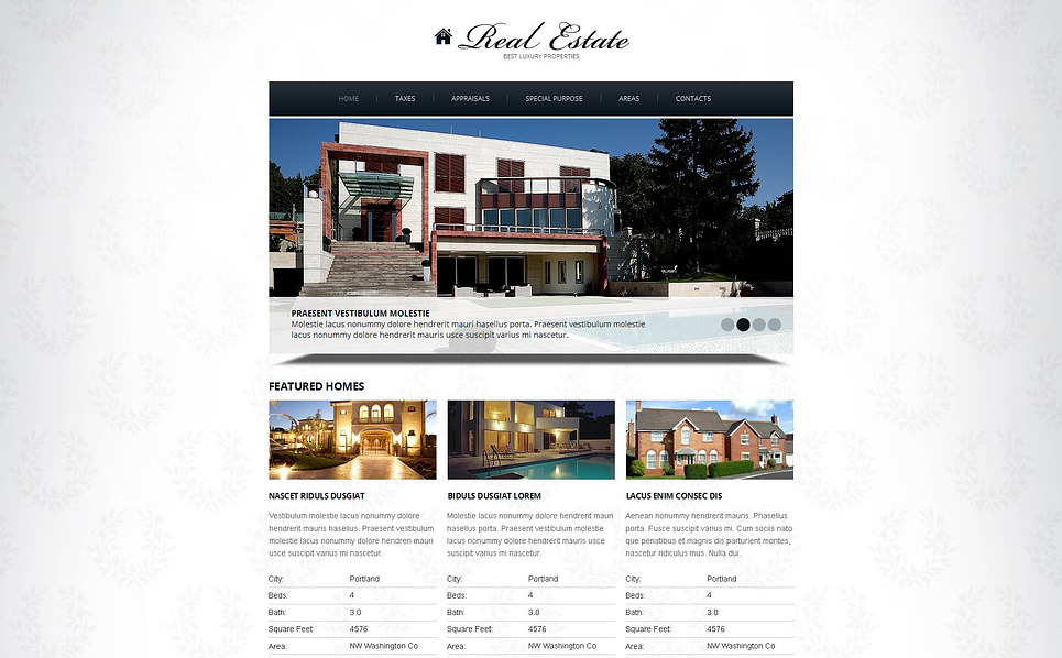 Premium Emlak Ofisi  Moto Cms Html Şablon New Screenshots BIG