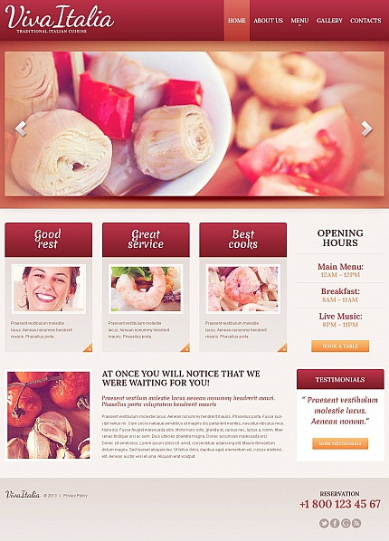 ADOBE Photoshop Template 47190 Home Page Screenshot