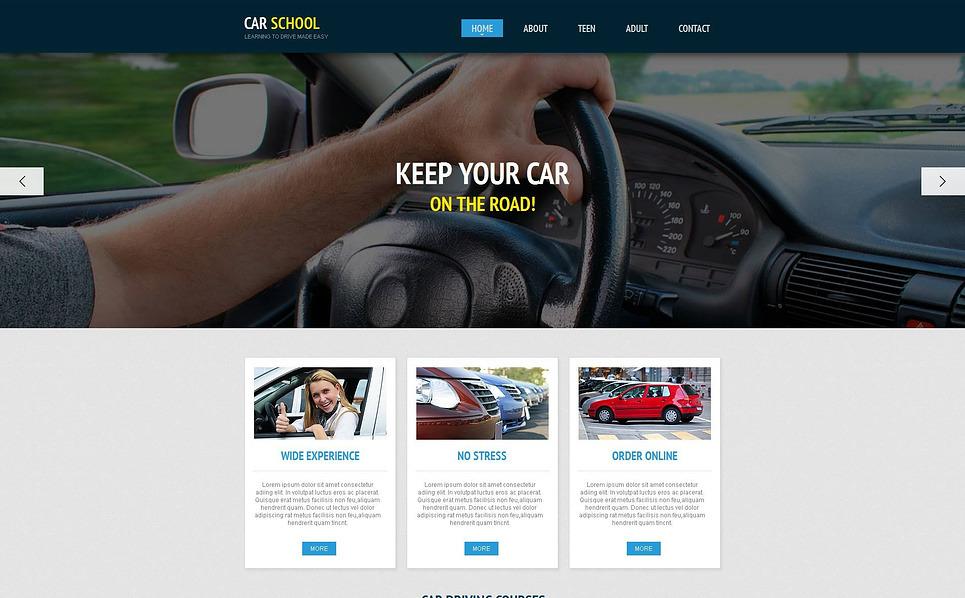 MotoCMS HTML шаблон на тему школа водіїв New Screenshots BIG
