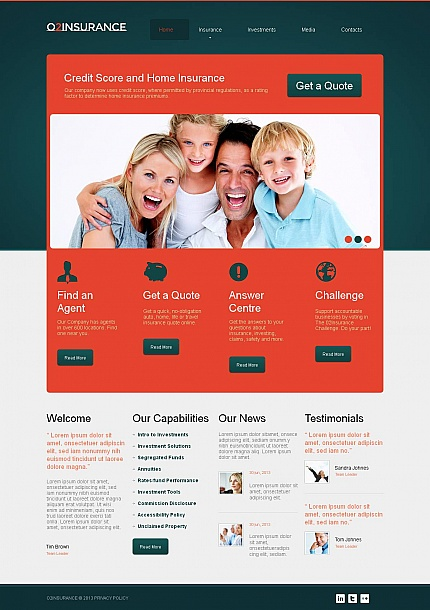 ADOBE Photoshop Template 47193 Home Page Screenshot