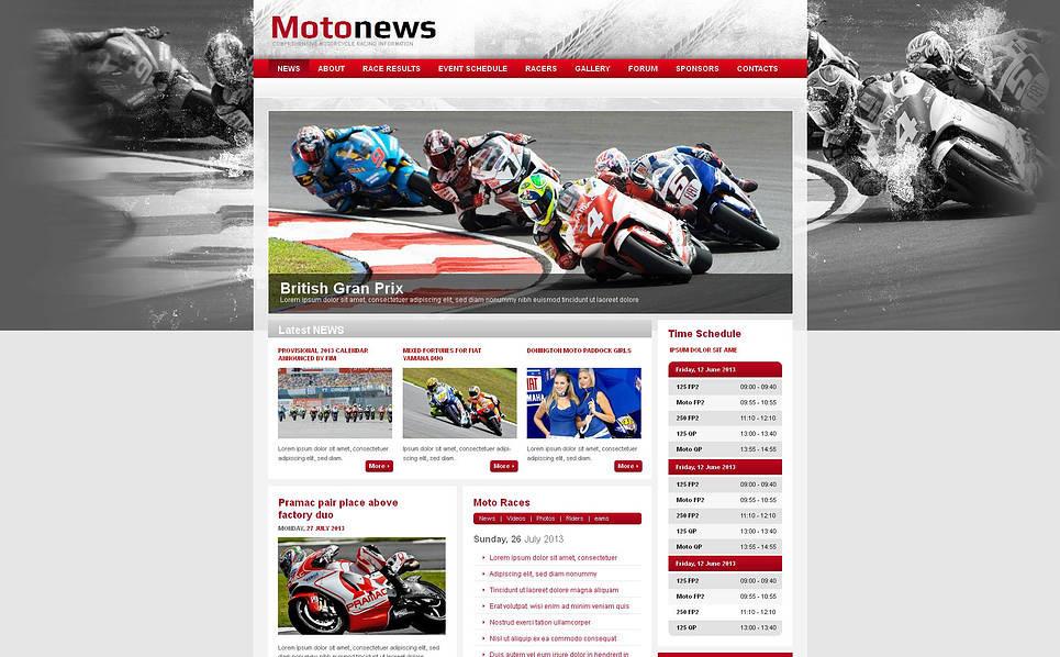 Szablon Moto CMS HTML #47195 na temat: sporty motorowe New Screenshots BIG