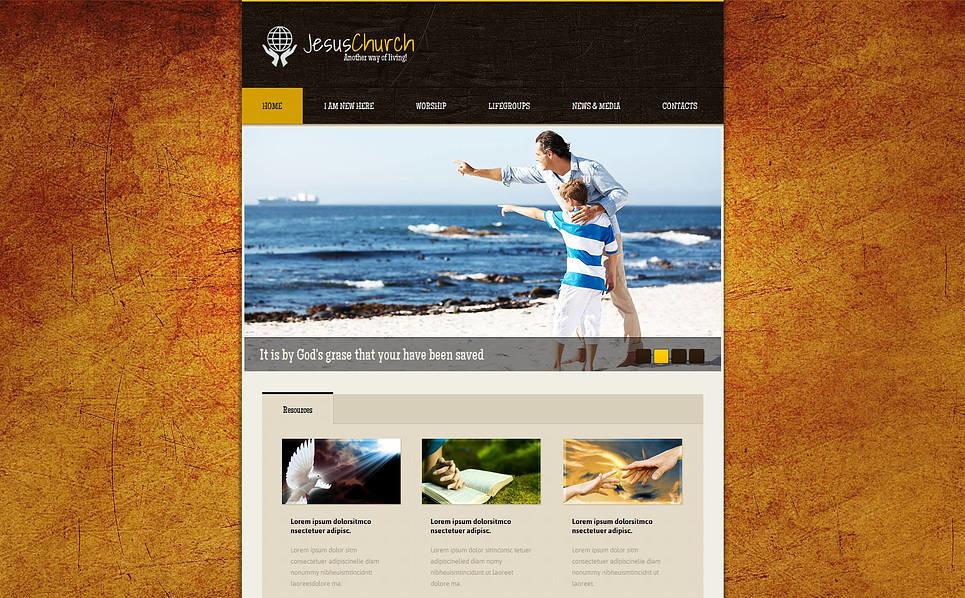 Plantilla Moto CMS HTML #47197 para Sitio de Religión New Screenshots BIG