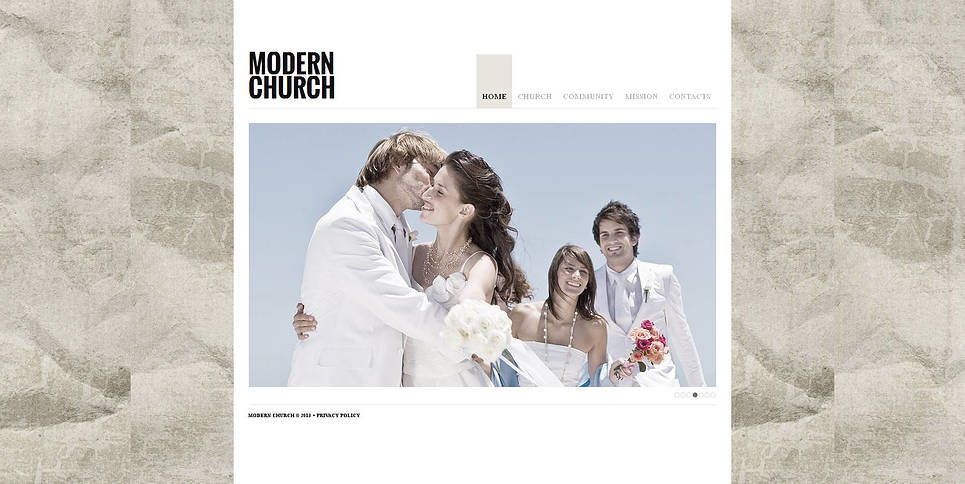 Modern Church Website Template in Light Tones - image