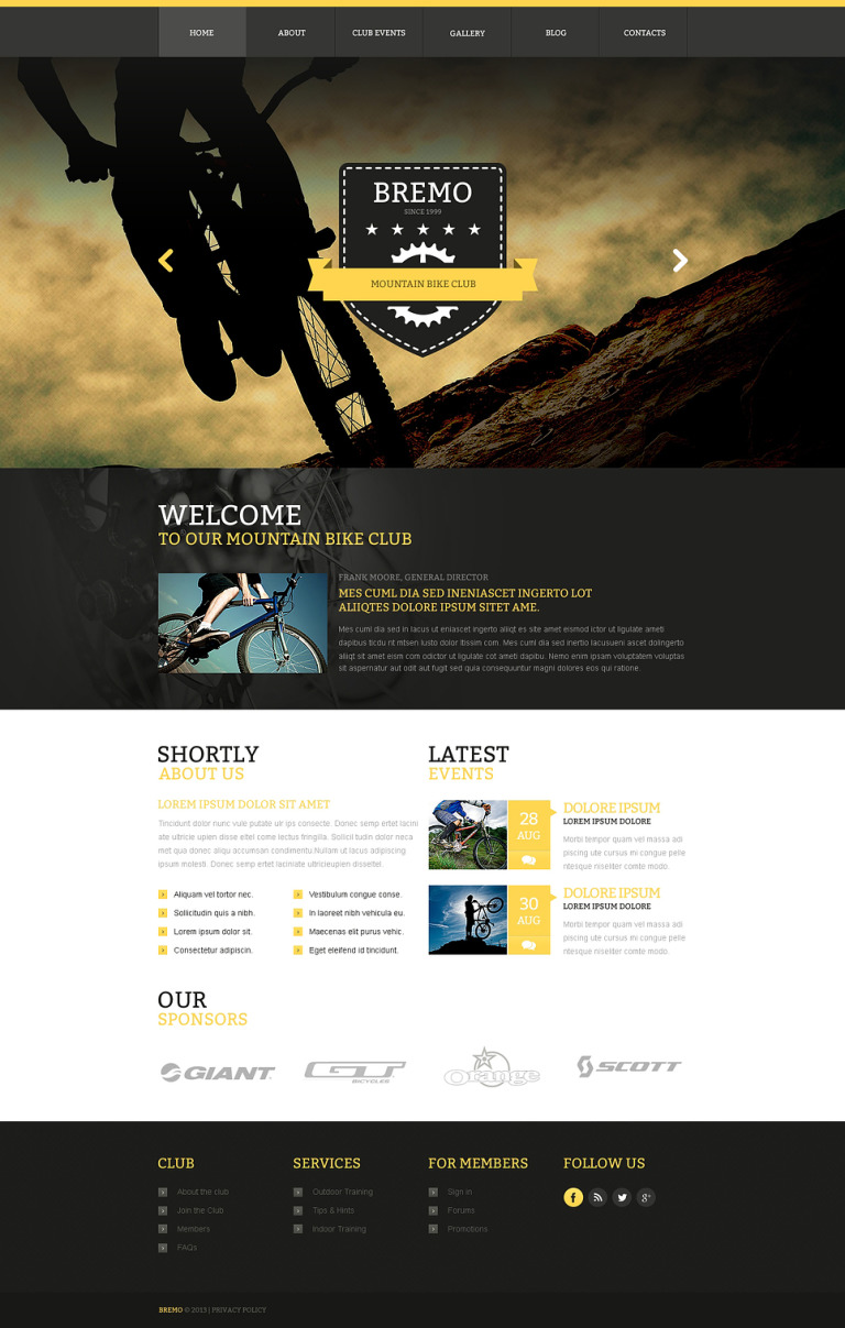 BMX Responsive Website Template New Screenshots BIG