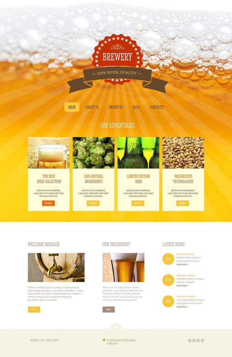 Brewery Responsive Joomla Template New Screenshots BIG