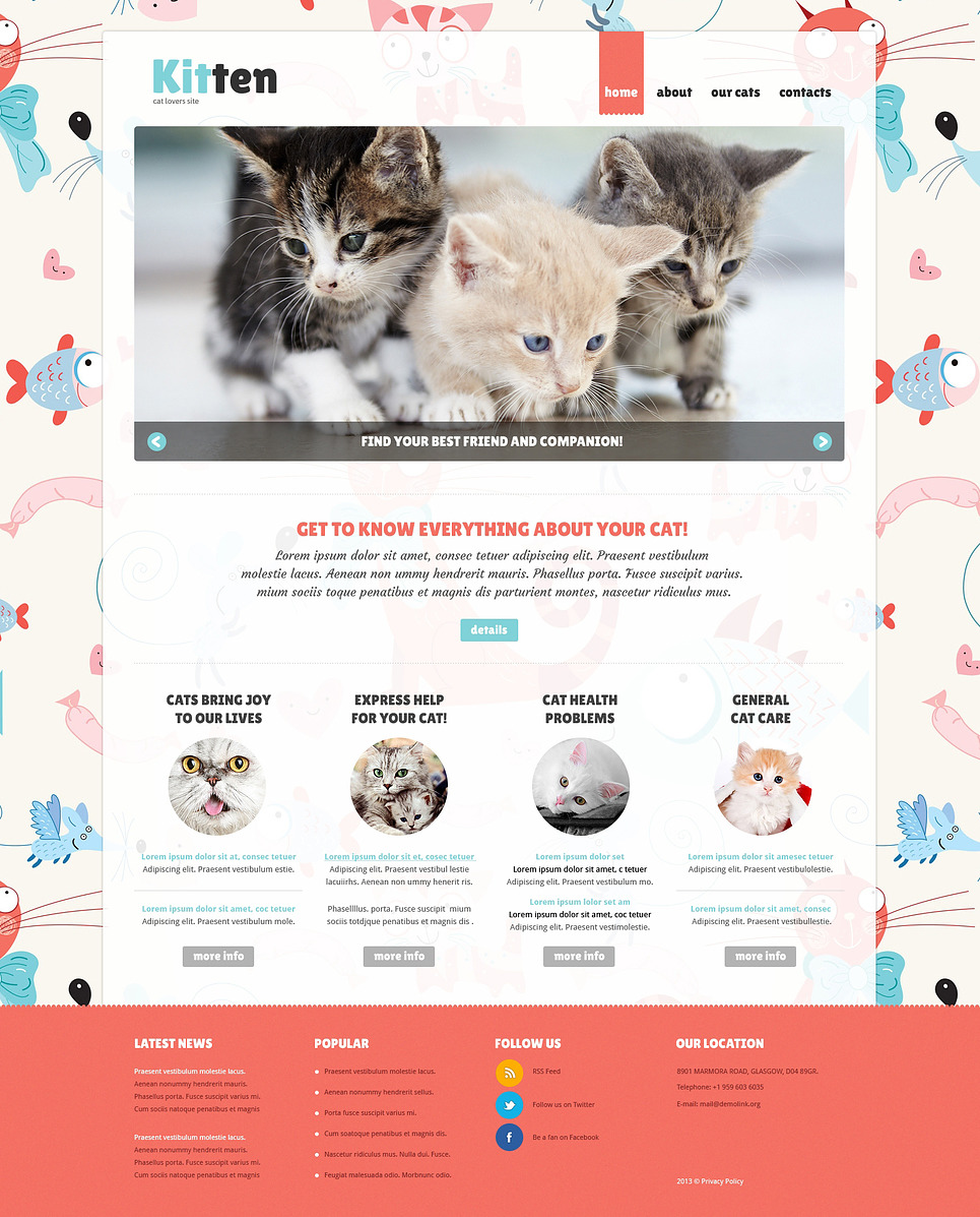 Cat Responsive Joomla Template New Screenshots BIG