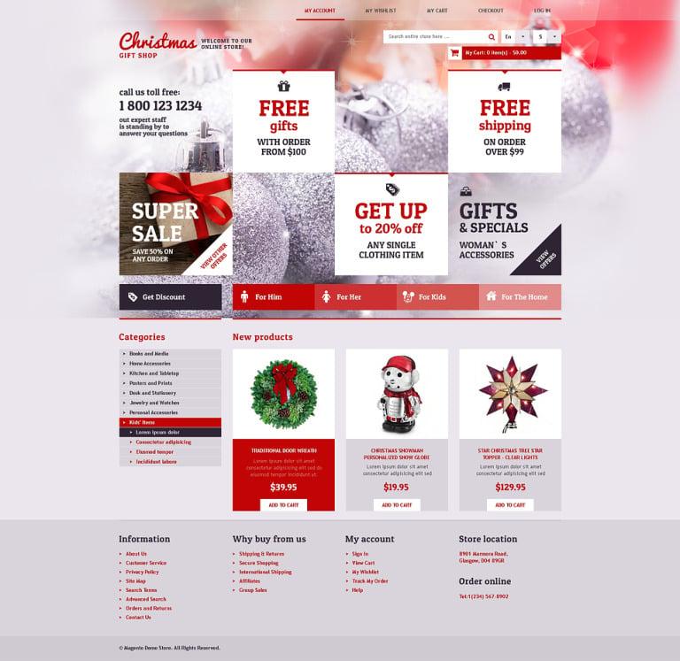Christmas Gift Shop Magento Theme New Screenshots BIG