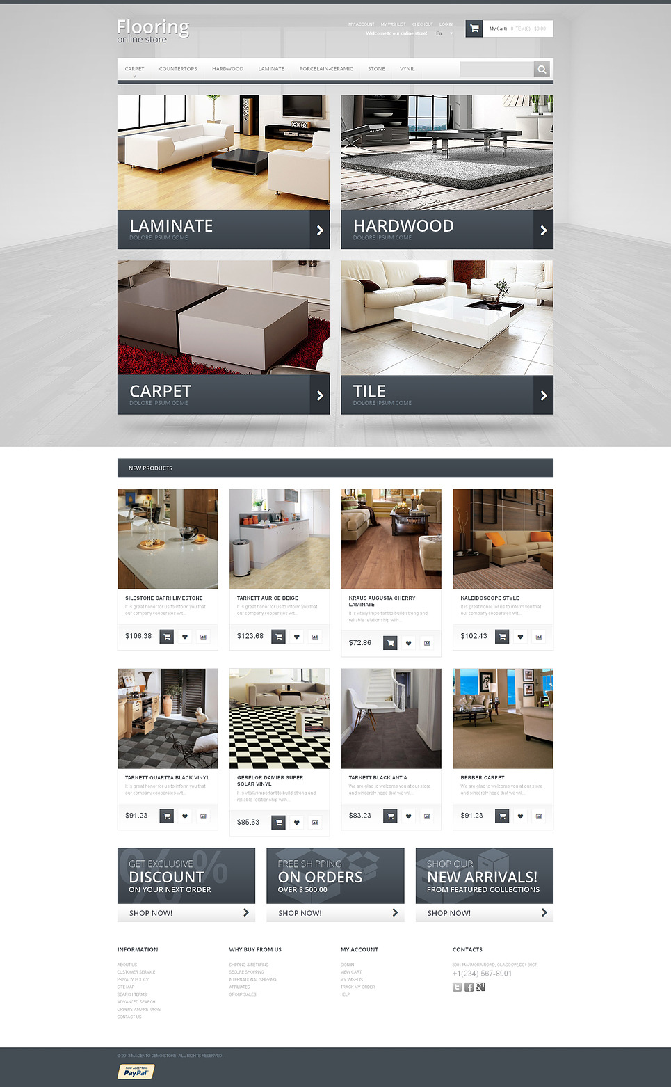 Durable Flooring Magento Theme New Screenshots BIG