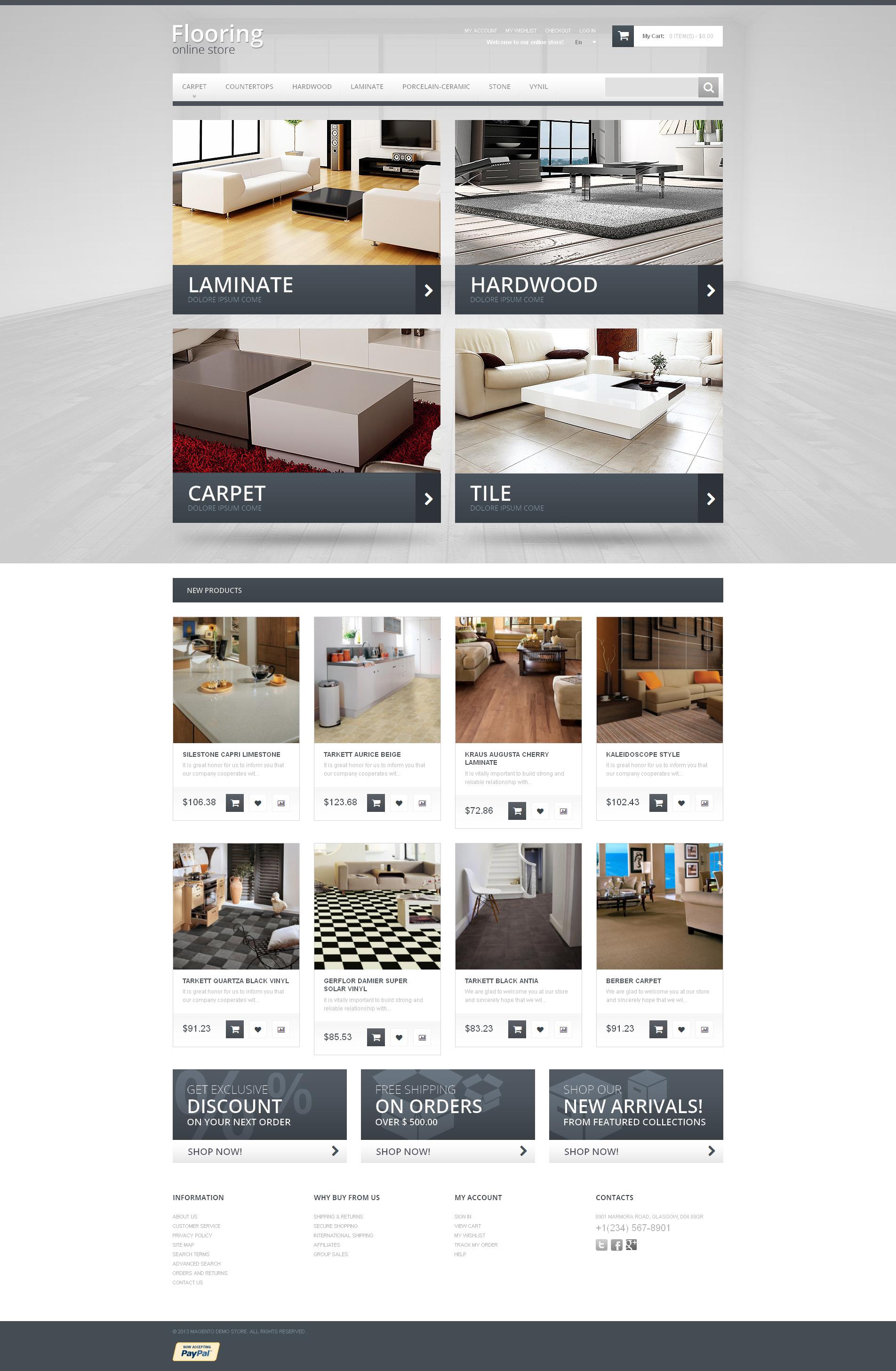 Durable Flooring Magento Theme - screenshot