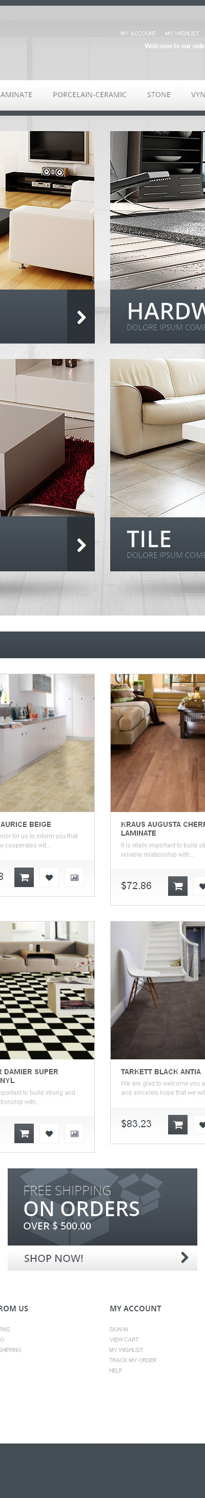 Durable Flooring Magento Theme