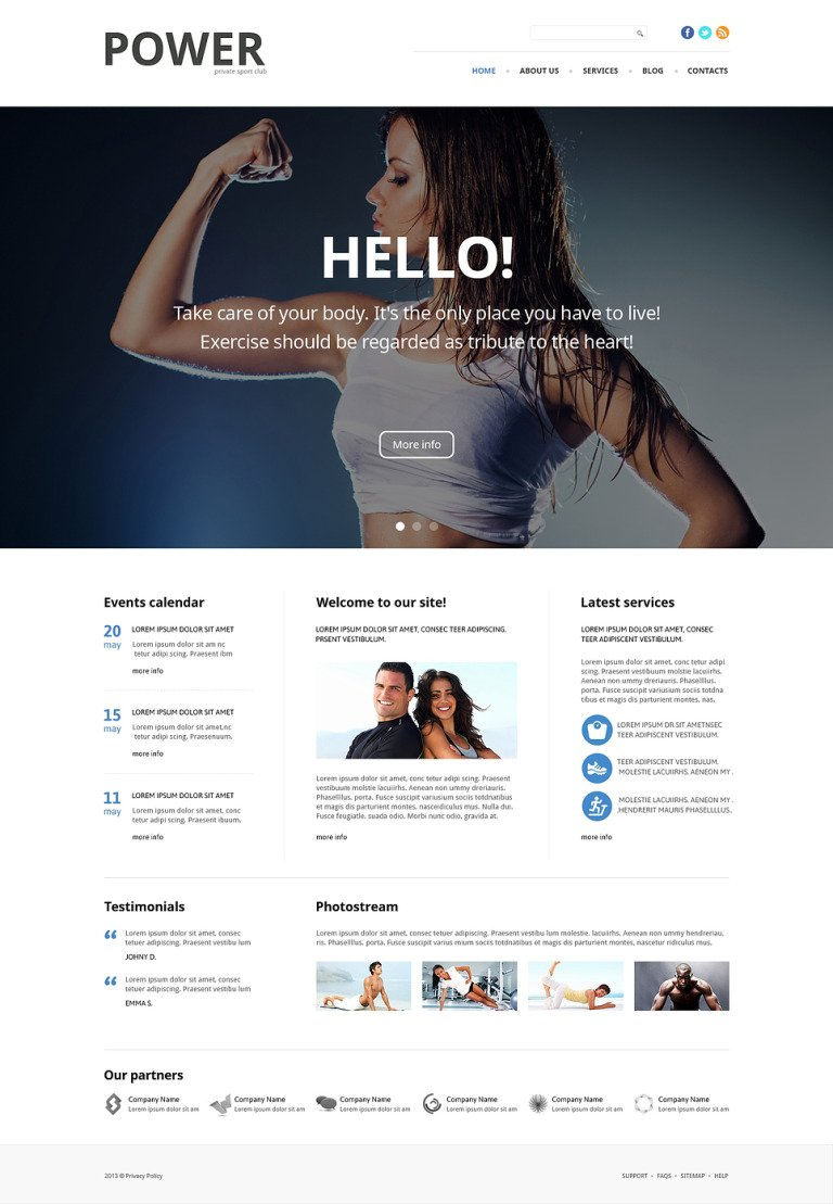 Fitness Responsive Joomla Template New Screenshots BIG