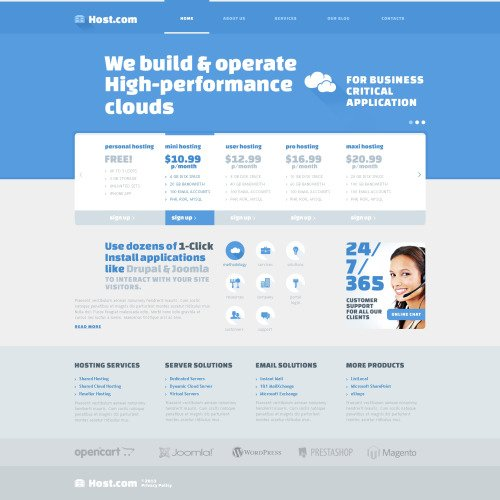 Host.Com - Joomla! Template based on Bootstrap
