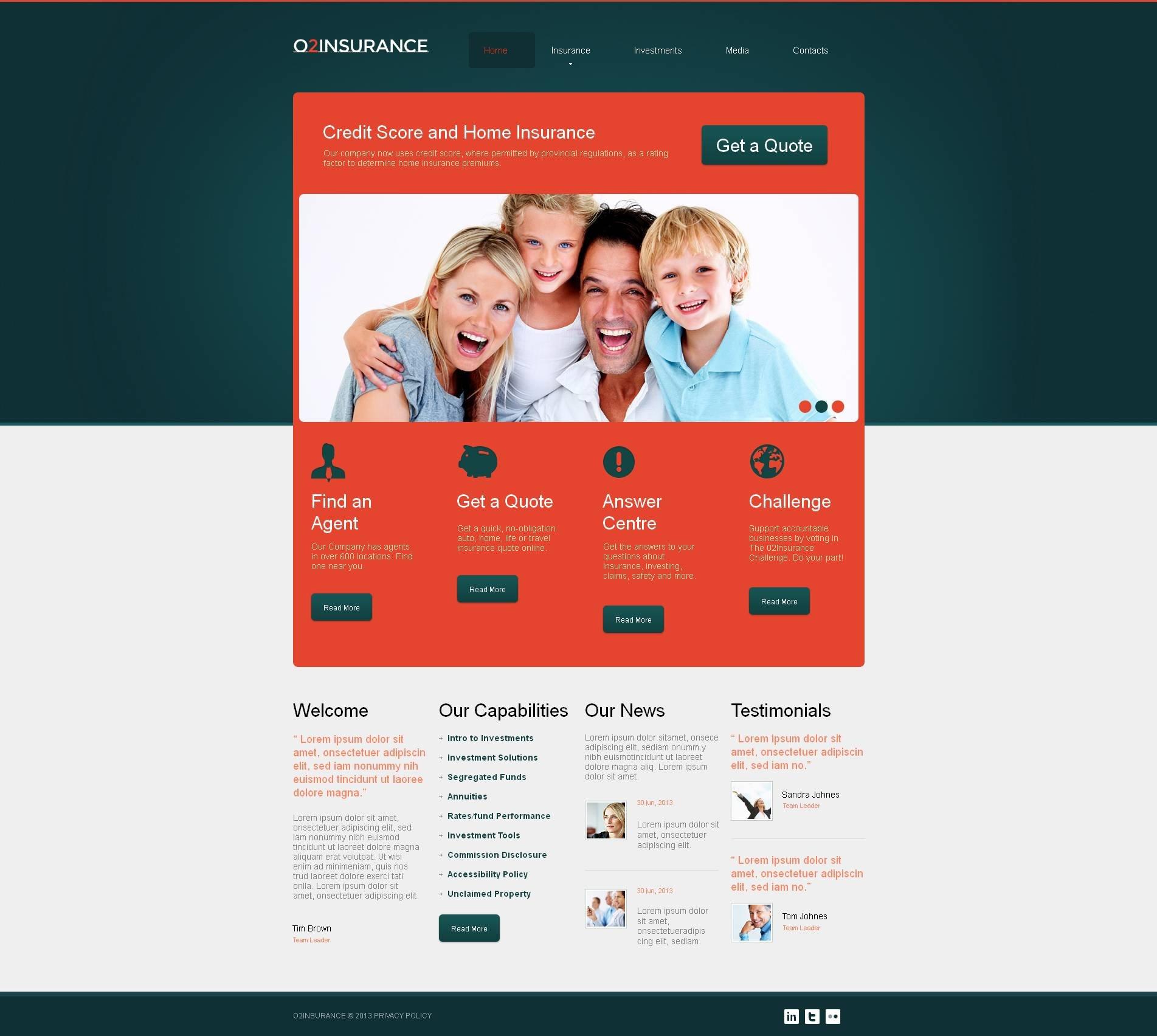 Insurance Moto CMS HTML Template