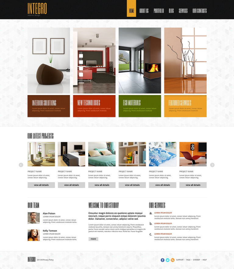 Interior Design for Profit Joomla Template New Screenshots BIG