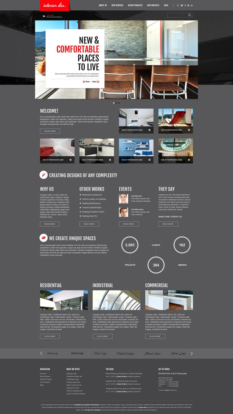 Interior Office Joomla Template New Screenshots BIG