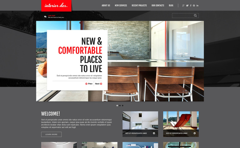 Interior Office Joomla Template