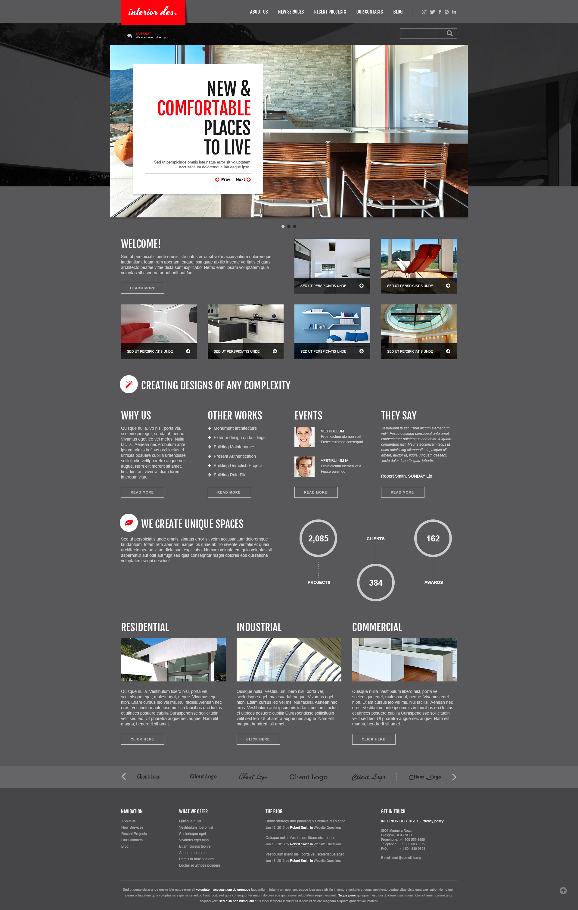 Interior Office Joomla Template - screenshot