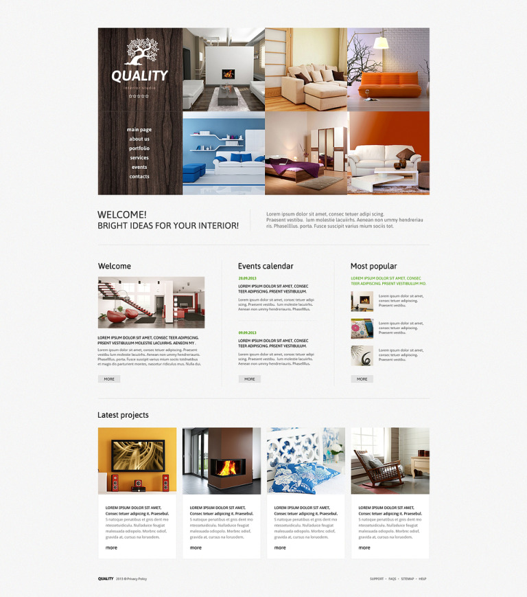 Interior Studio Joomla Template New Screenshots BIG