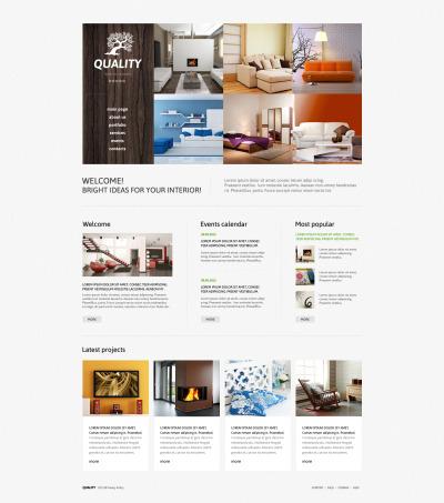 Адаптивный Joomla шаблон №47110 на тему дизайн интерьеров