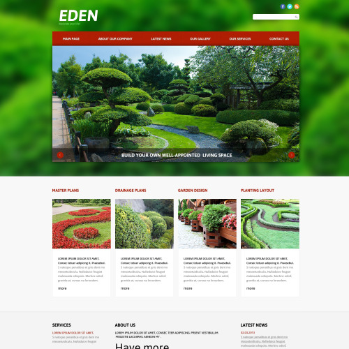 Eden - Joomla! Template based on Bootstrap