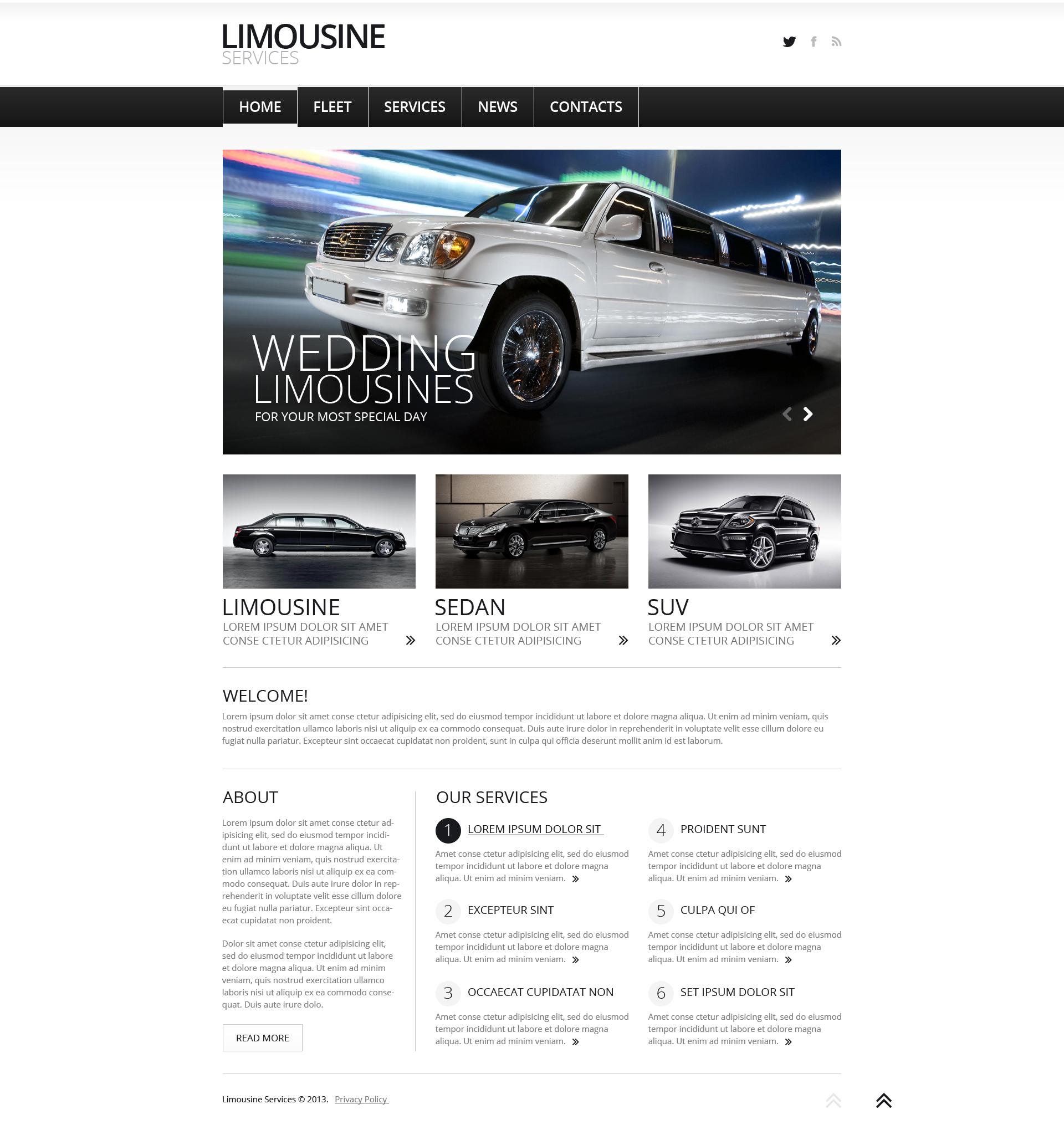 """Limousine Services"" - адаптивний Joomla шаблон №47158"