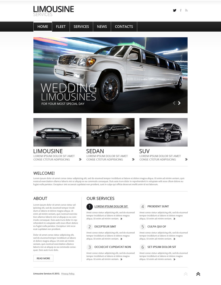 Limousine Services Joomla Template New Screenshots BIG