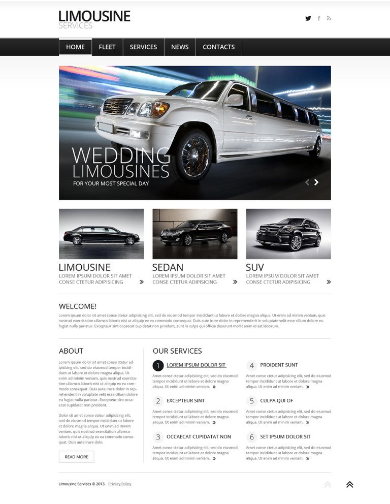 Limousine Services Joomla Template New Screenshots BIG