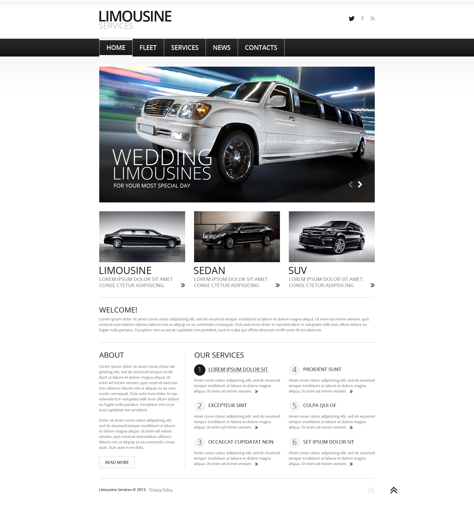 Limousine Services Joomla Template - screenshot