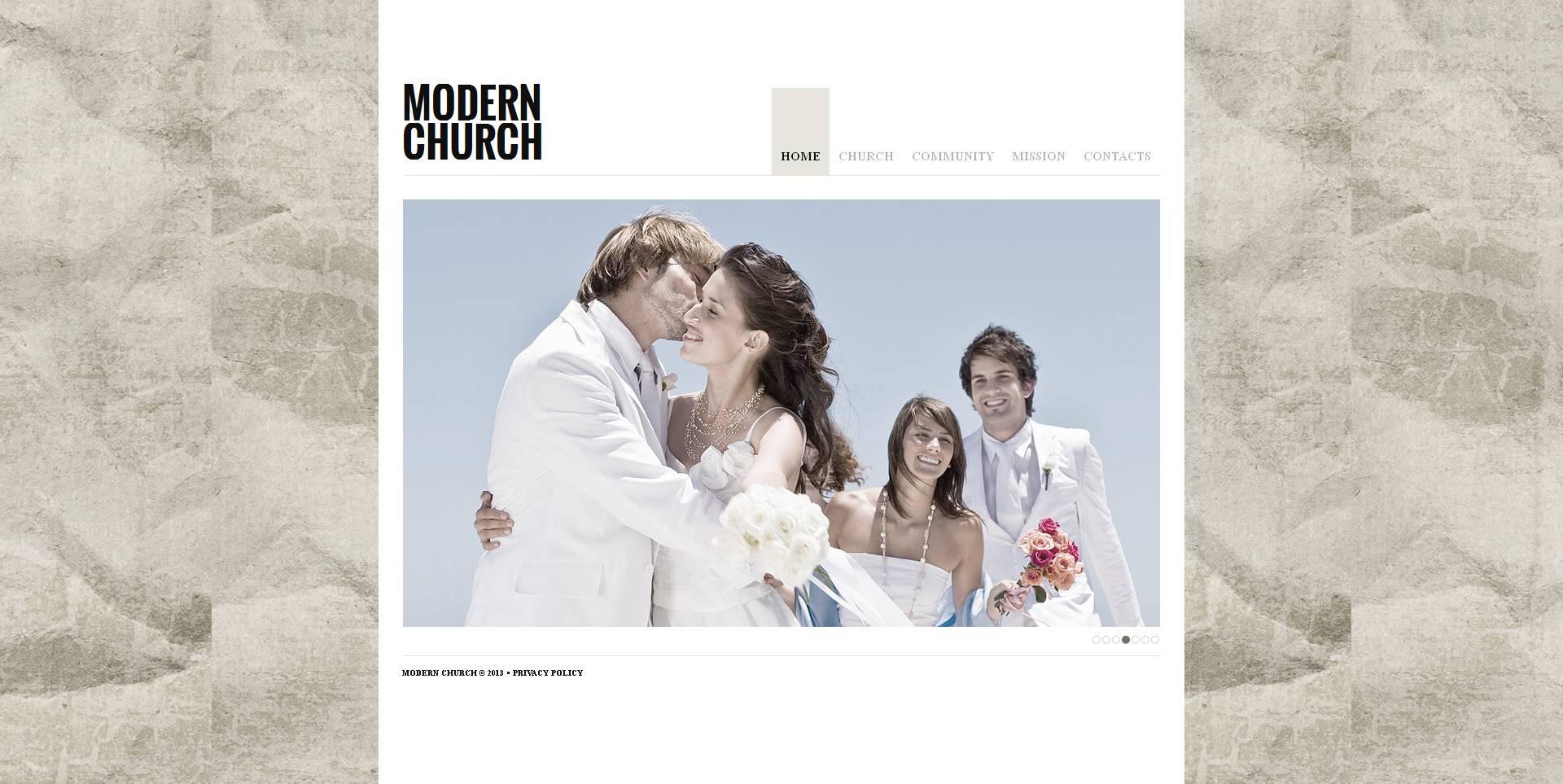 Luxusní Moto CMS HTML šablona na téma Křesťanství #47199
