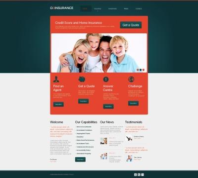 Insurance Moto CMS HTML šablona