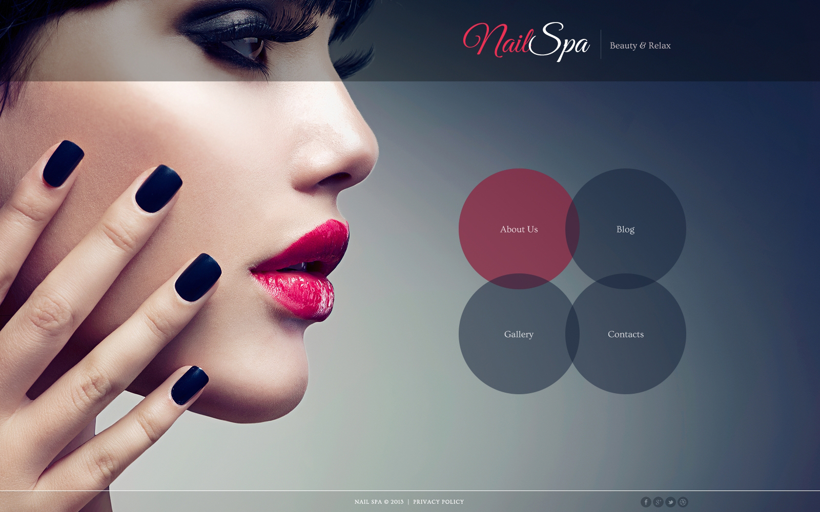 Nail Salon Responsive Joomla Template - screenshot