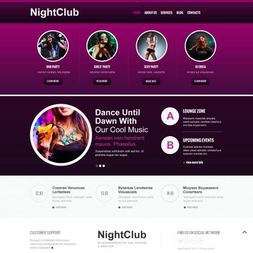 Night Club - Joomla! Template based on Bootstrap
