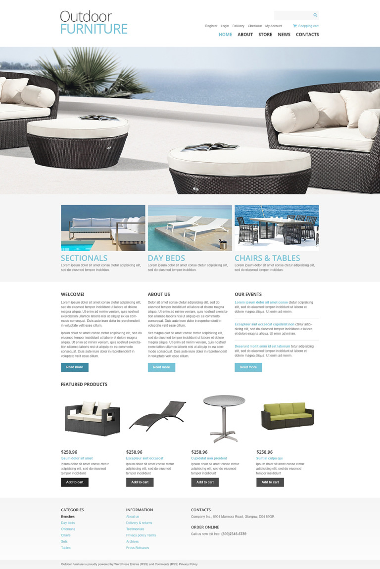 Outdoor Furniture WooCommerce Theme New Screenshots BIG